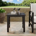 Oiled Bronze Outdoor Patio Side Table – Kaplan