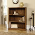 Oiled Oak 3-Shelf Bookcase