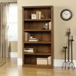 Oiled Oak 5-Shelf Bookcase