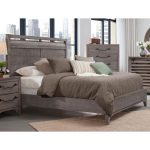 Old Gray Rustic Contemporary King Size Bed – Bohemian