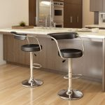 Open Back Adjustable Bar Stool Set of 2