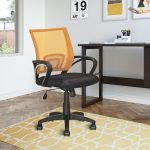 Orange Mesh Back and Black Office Chair