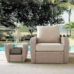 Outdoor Wicker Arm Chair with Oatmeal Cushions – St Augustine