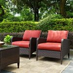 Outdoor Wicker Patio Chairs in Sangria (Set of 2) – Kiawah