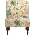 Paint Palette Mist Traditional Tufted Chair