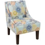 Painterly Medallion Multi Swoop Arm Chair