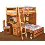 Palomino Cinammon Rustic Loft Bed