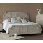 Pearl White Rustic Contemporary Queen Bed – Camelia
