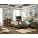 Pecan 6 Piece Queen Bedroom Set – Touraine Collection