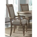 Pecan Upholstered Arm Chair – Town & Country Collection
