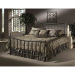 Pewter Contemporary Twin Metal Bed – Edgewood
