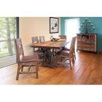 Pine 5-Piece Dining Set – Rustic Antique