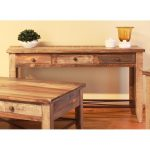 Pine Two Tone Brown Sofa Table – Tanmeron