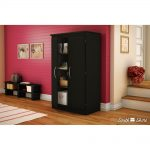 Pure Black Storage Cabinet – Morgan