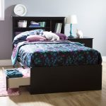 Pure Black Twin Mates Bed with 3 Drawers (39 Inch)