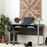 Pure Gray Desk with Smoked Gray Office Chair – Annexe