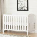 Pure White Crib, Mattress & Toddler Rail – Angel