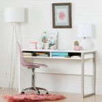 Pure White Desk with Clear Pink Office Chair – Interface