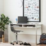 Pure White Desk with Smoked Gray Office Chair – Annexe