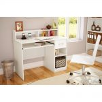 Pure White Small Desk with Keyboard Tray – Axess