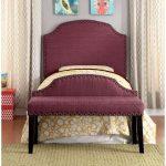 Purple Classic Upholstered Twin Headboard – Mira