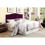 Purple Upholstered Full-Queen Headboard – Venice