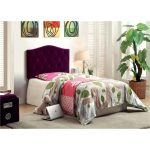 Purple Upholstered Twin Headboard – Venice