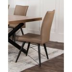 Putty and Black Modern Dining Chair – Empire Collection