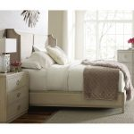 Rachael Ray Home California King Size Upholstered Shelter Bed – Cinema