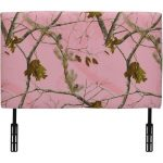 Real Tree Pink Camo Upholstered Twin Headboard