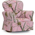 Real Tree Pink Camouflage Skirted Rocker