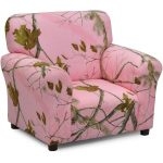 Real Tree Pink Camouflage Upholstered Club Chair