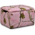 Real Tree Pink Camouflage Upholstered Storage Box