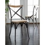 Reclaimed Brown/Black Dining Chairs (Set of 2)