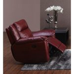 Red Leather-Match Power Recliner – K-Motion