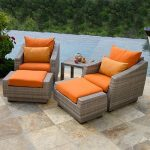 Red Star Traders 5 Piece Chair and Ottoman Set