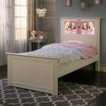 Riviera White LightHeaded Twin Bed