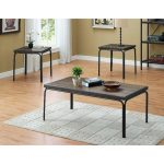 Rustic Brown Elm 3 Piece Coffee Table Set – Clarence