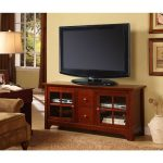 Rustic Brown Wood TV Console