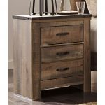 Rustic Casual Contemporary 2-Drawer Nightstand – Trinell
