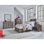 Rustic Casual Gray 6-Piece Twin Youth Bedroom Set – Nelson