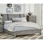Rustic Casual Gray Queen Sleigh Bed – Nelson