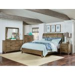 Rustic Casual Pine 6-Piece California King Bedroom Set – Nelson