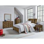 Rustic Casual Pine 6-Piece Full Youth Bedroom Set – Nelson