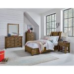 Rustic Casual Pine 6-Piece Twin Youth Bedroom Set – Nelson