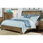 Rustic Casual Pine California King Sleigh Bed – Nelson