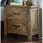 Rustic Casual Pine Nightstand – Nelson