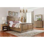 Rustic Casual Toffee Brown 6 Piece King Bedroom Set – Savannah