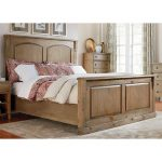 Rustic Casual Toffee Brown King Size Bed – Savannah