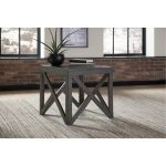 Rustic Charcoal Brown End Table – Haroflyn